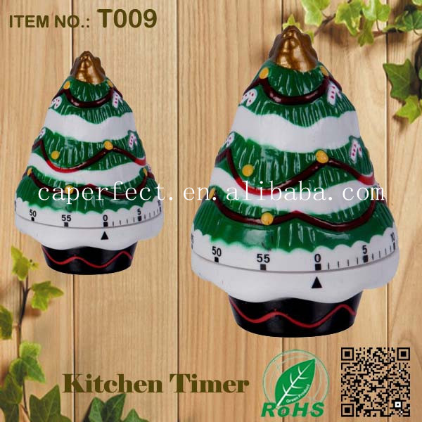 unique manuale Christmas tree kitchen timer