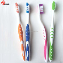 personal care adult toothbrush with built-in tongue cleaner