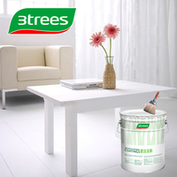3TREES High Coverage Eco White Furniture Paint Primer Sealer