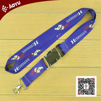 Factory direct custom retractable metal buckle lanyard, 2.5*90cm AZO-free heat transfer lanyard