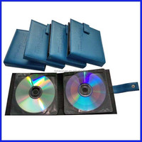 new design hot selling wedding leather cd/dvd cases
