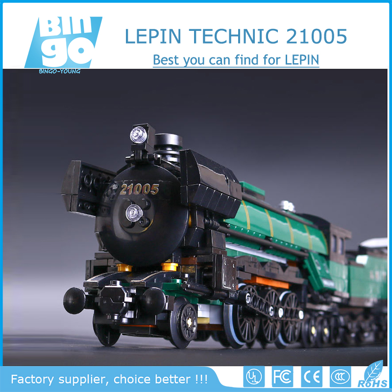 Bingo 2017 Hottest Wholesale Lepin Creators Series 21005 Emerald Night Train Model Building Kits Block Bricks