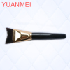 Private Label Wood Handle Synthetic Hair Flat Powder Brush Makeup