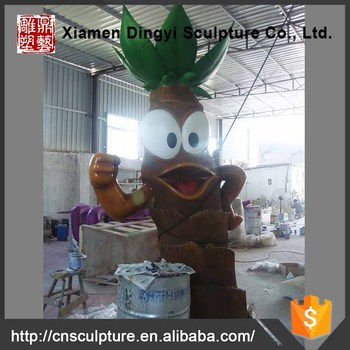 Abstract outdoor decoration fiberglass tree sculpture for sale