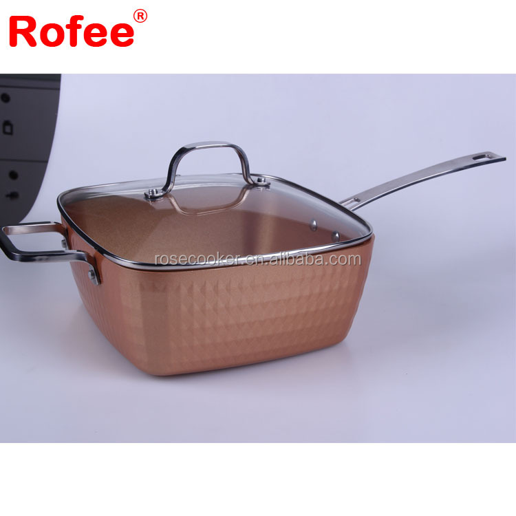 Titanium Cookware Copper Ceramic Coating Diamond cookware