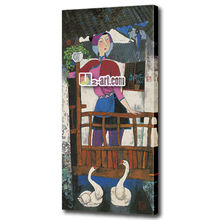 Factory art decor wall picture painting printed on canvas chinese girls Portraits for sale