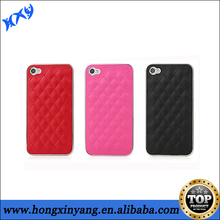 cheap leather phone cases with metal chrome