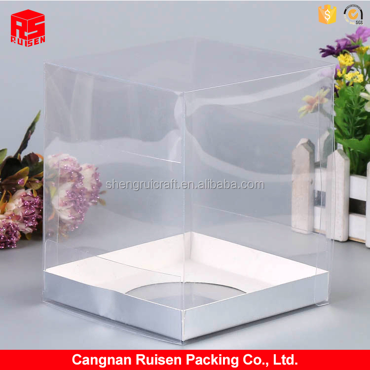 Best prices clear soft crease plastic packaging box with bottom hole