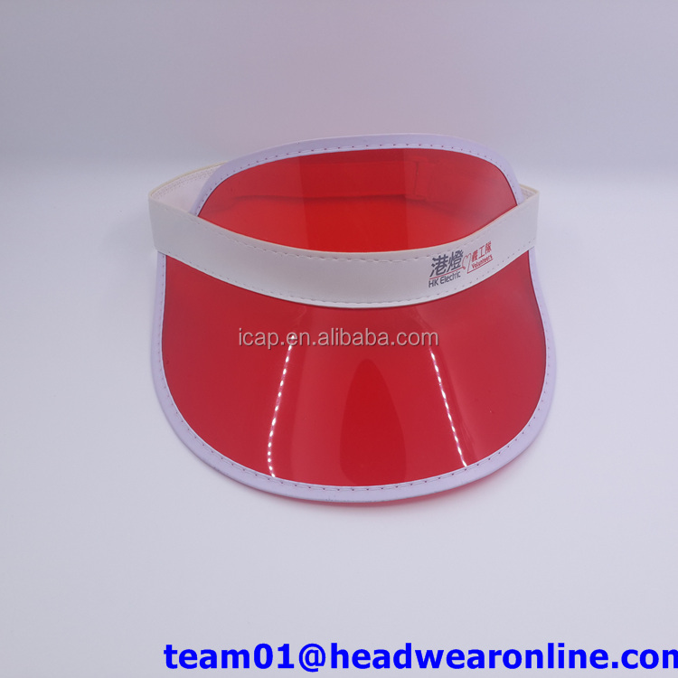 custom outdoor PVC Sun Visor UV Sun hat