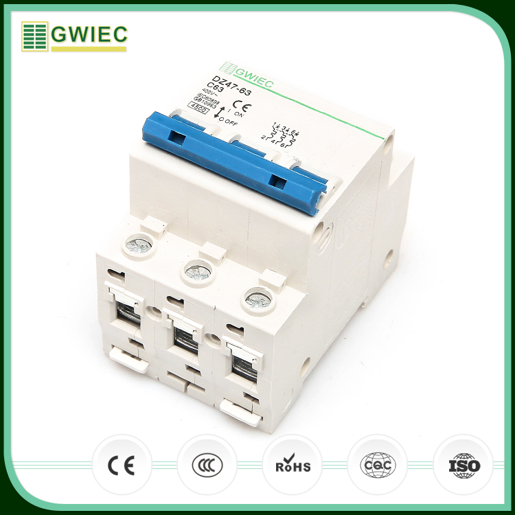 GWIEC Import China Goods 2P 3P 20 Amp Miniature Circuit Breaker Mcb 6KA 400V