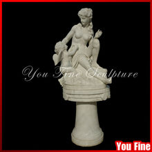 high polishing marble garden children mother and child stone carving statues