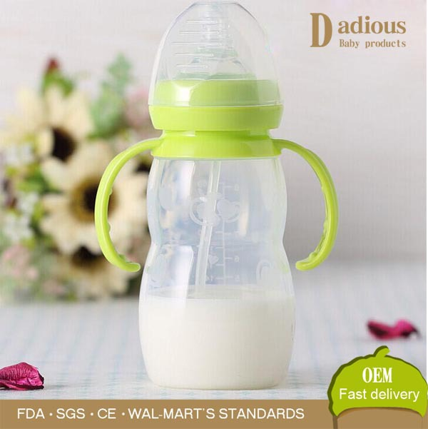 2016 New Baby Product 260ml BPA Free Silicone Feeding Bottle/Baby Bottle
