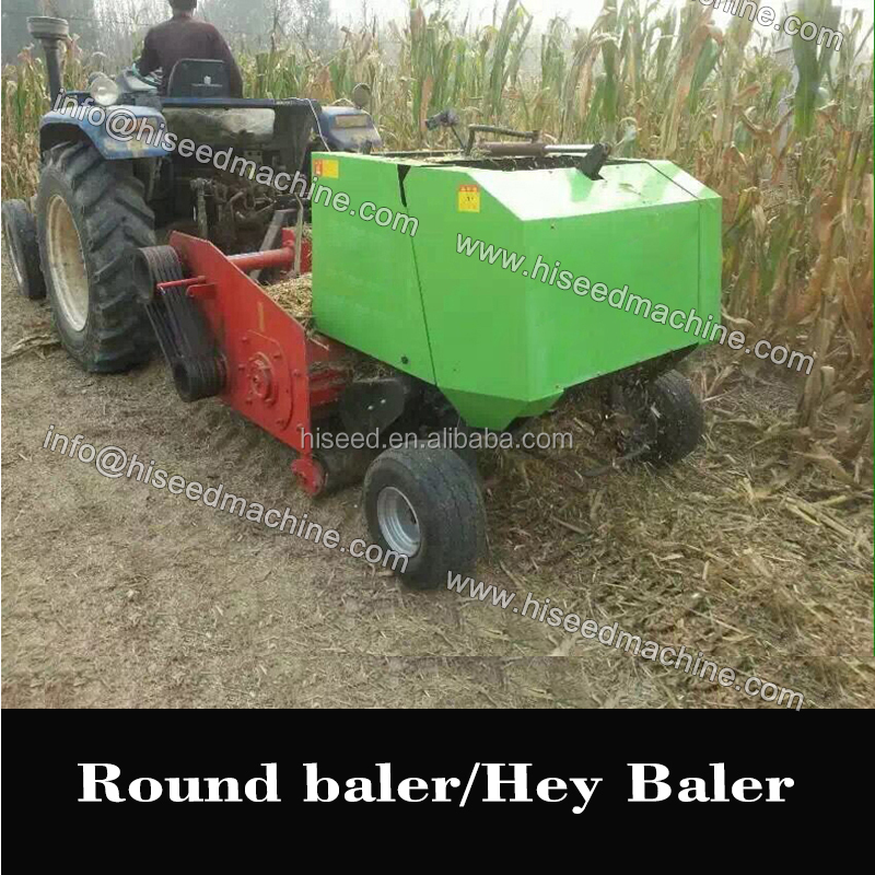 PTO drived round straw baler hey baler (for rice wheat pasture) mini square hay balers