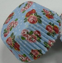 blue flower greaseproof laser cutting paper wrapper Petal cupcake liner muffin baking cake box for bakery birthday party