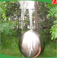 300mm/500mm/1000mm stainless steel ball with hole ,stainless steel fountain/spray/water sphere
