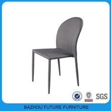 wholesale modern cheapest grey modern fabric stackable dining chairs in good taste