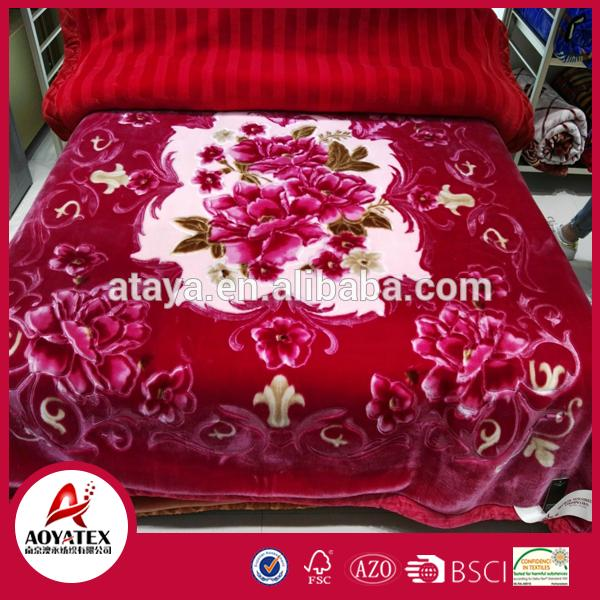 best sale korean king size mink blanket 20 years of export experience Germany Machine Made Wide Mouth raschel blankets china