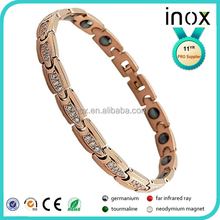 Inox natural power health products with germanium benefits titanium bracelet,stainless steel bracelet