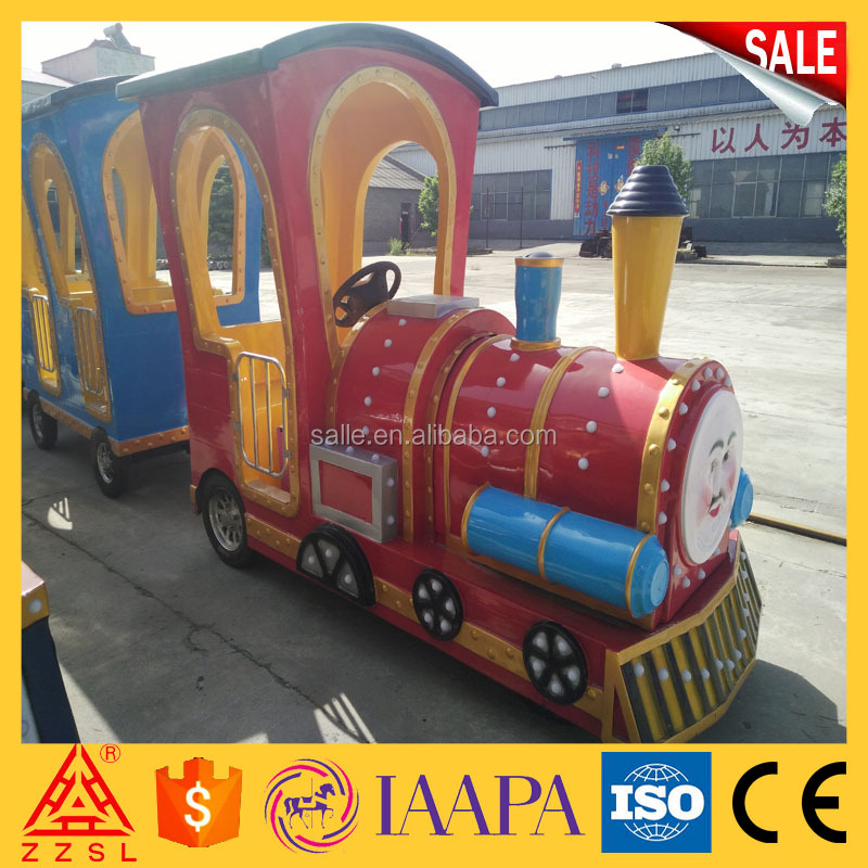 kids funfair electric fiberglass thomas trackless mini train for children