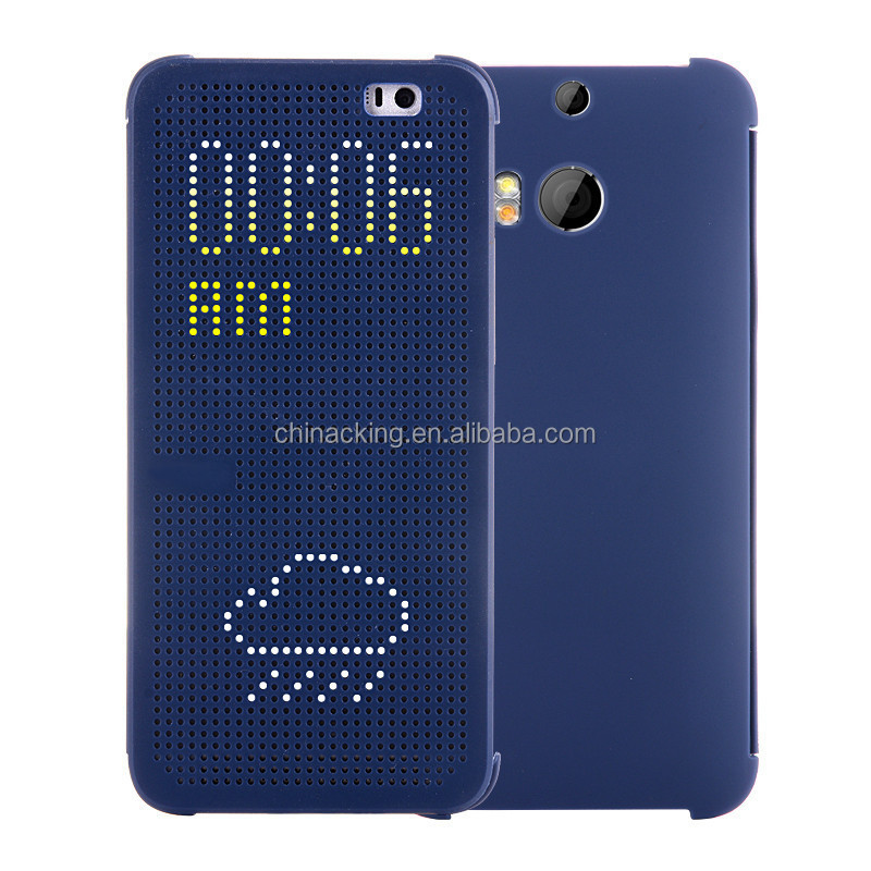 Colorful Silicone Matrix Dot View Smart Flip Case Cover For HTC one M9 / HTC 626