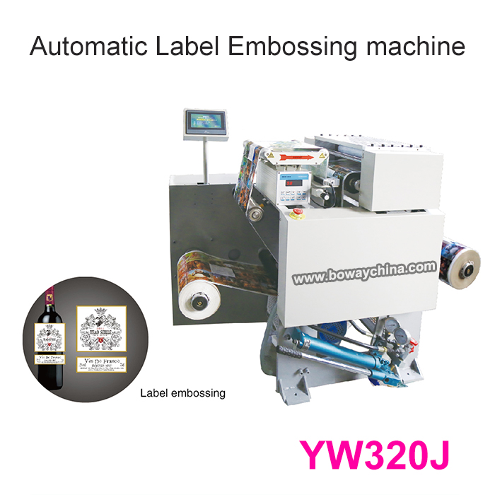 YW320J  Electric Hydraulic Automatic Cold Press Embossing Plastic PET Film Sticker Label Maker
