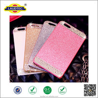 New arrival! glitter with diamond full cover TPU case for iphone 6