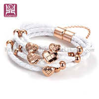 new accessories with magnetic clasp leather bracelet