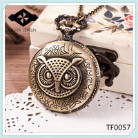 TF0057 Owl Modern japan movt quartz pocket watch cheap pocket watches