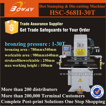 HSC-568II-30T automatic worktable Hot foil Stamping and Die Cutting Machine