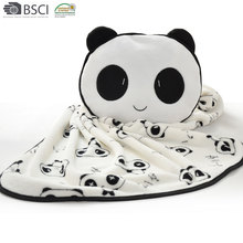 1 Ply Small Knee Blanket Embroidered Panda Blanket Animal Shaped Car Blanket