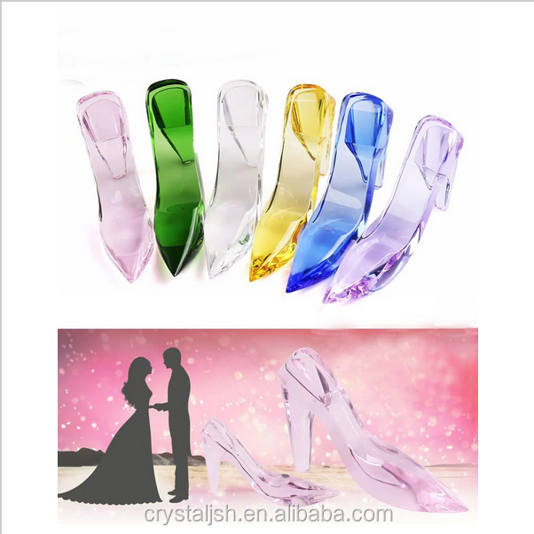 Beautiful k9 Crystal Valentine's Day gift, Cinderella Fairy Tale Crystal Shoes,Crystal Wedding Decoration best souvenir
