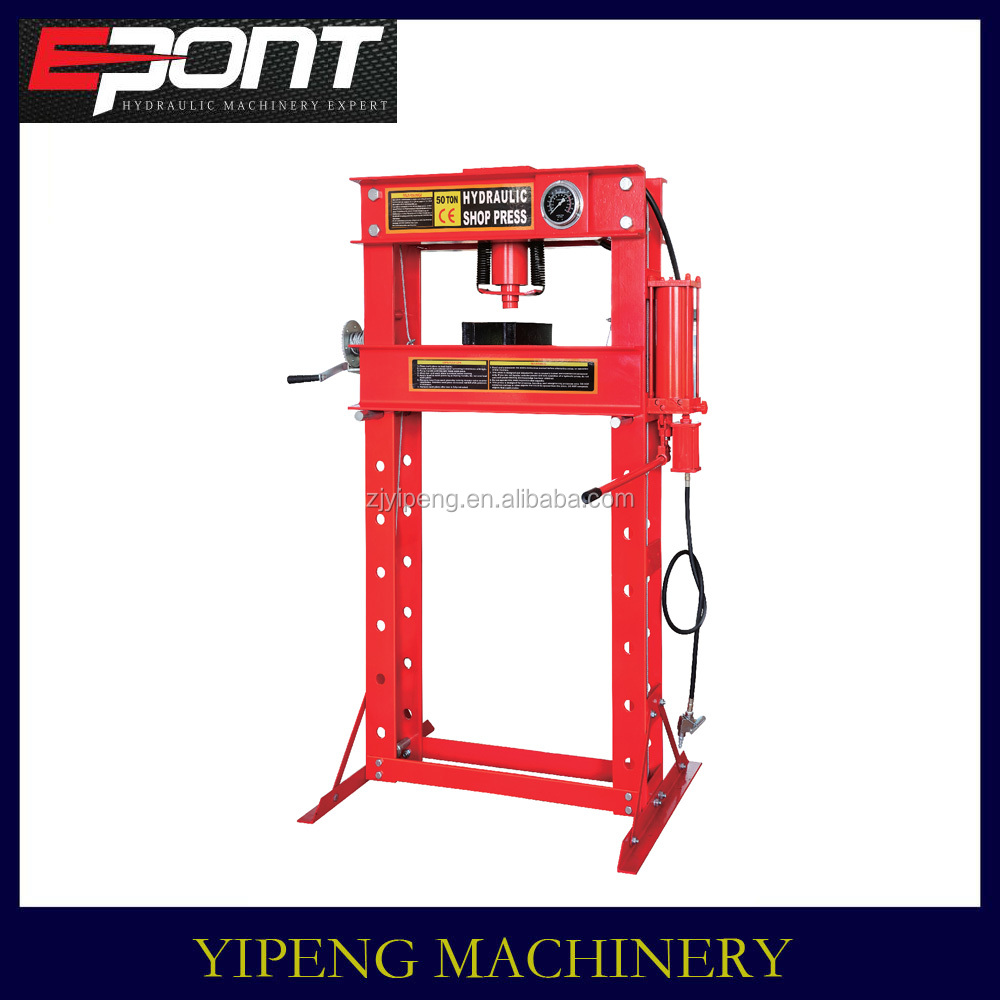 Factory Offering Lift Device 50T pneumstic shop press with gauge