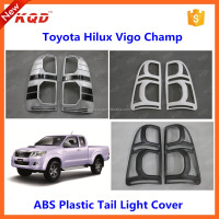 toyota hilux vigo 2014 tail light cover for toyota hilux 4x4 chrome/black tail light cover for toyota hilux vigo parts thailand