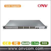 Rack mount 24 Port Fiber Network Switch/24port POE Switches/24 Port Gigabit Ethernet Switch
