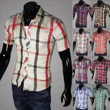 Multicolor Election Cheap Plaid Softtextile Egyptian Cotton Fabric Golf Shirt