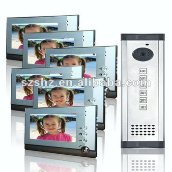 6 households multi apartments door bell with camera 7