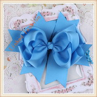 Trendy Wholesale Handmade Kid Hair Accessories&White Dotted Pre-tied Ribbon Bows