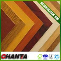 ISO High Quality 18mm white color laminated mdf board
