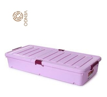 Giant underbed shoe storage box for organizer with wheel
