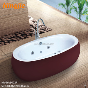 (9002B)red copper wholesale freestanding hot bath tub