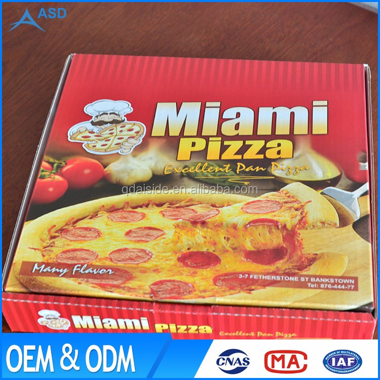 Customed logo accepted OEM cheap Printed Micro-Flute Die Cut Corrugated Pizza Boxes