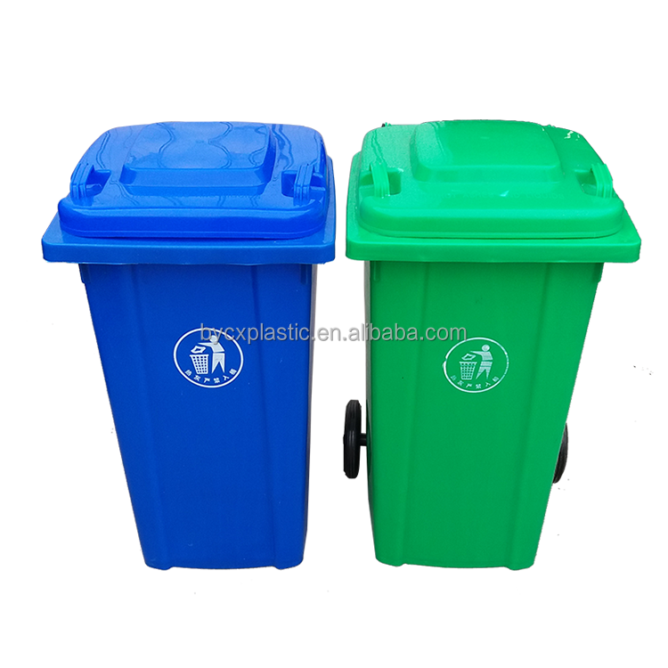 Outdoor Plastic 120 Liter Waste Bin with <strong>wheels</strong>