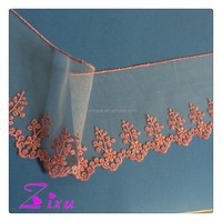 Factory price brightsome flower embroidered lace trim