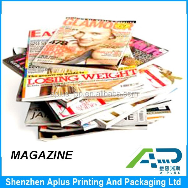 High quality magazine printing service with good price, fashion magazine, company book