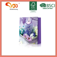 2016 Hand made china manufacturer art paper Easter printing gift wraping recycle paper bag