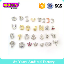 Hot selling Mini Letter Charms Mix DIY Glass Living Memory Floating Locket Charms