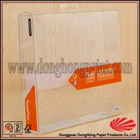 Latest waterproof custom small transparent plastic packaging box