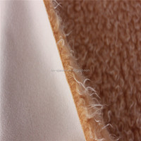 Artificial Suede Leather Bonded With Faux