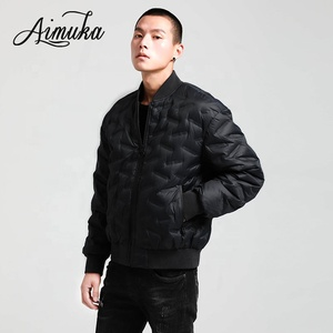 Winter New Fashion Men Baseball Collar 90% White Duck Down Jackets