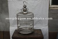 Chinese antique steel hanging bird cage